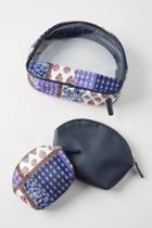 Anthropologie Gwendolyn Cosmetic Bag Set