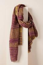 Epice Checkered Wool Scarf