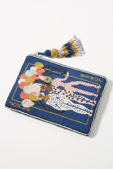 Anthropologie Playing Card Beaded Pouch