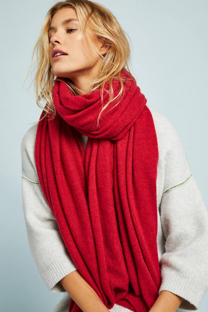 White + Warren Cashmere Oblong Travel Wrap Scarf