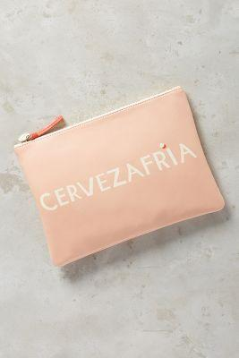 Clare V. Cervezafria Pouch Pink
