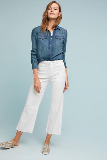 Paige Nellie Mid-rise Culotte Jeans