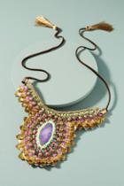 Anthropologie Purple Thorn Necklace