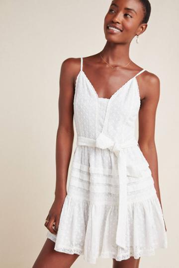 Paige Nahla Eyelet Mini Dress