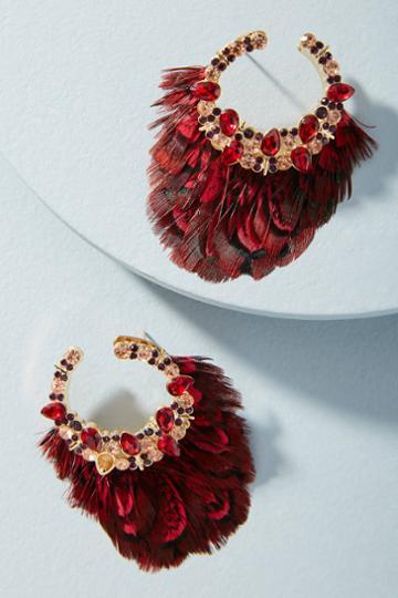 Mignonne Gavigan Lena Feather Drop Earrings