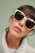 Anthropologie Ecru Square Sunglasses