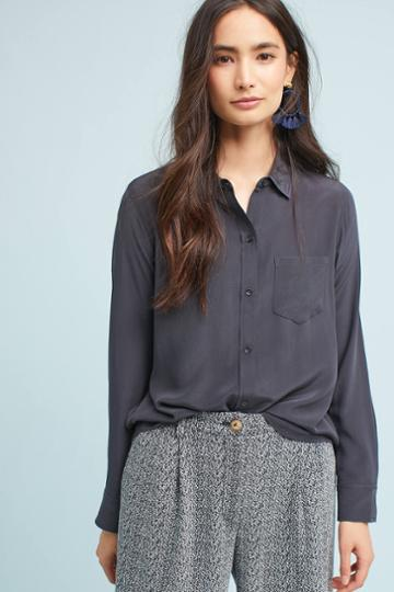 Rails Silk Pocketed Buttondown