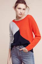 One Grey Day Colorblock Wool Pullover