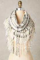 Anthropologie Fringed Infinity Scarf