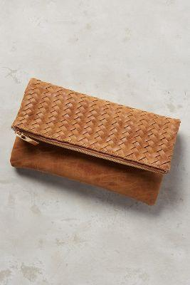 Anthropologie Amitie Vegan Leather Clutch