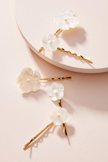 Jennifer Behr Pearl Flower Bobby Pin Set