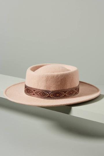 Wyeth Trimmed Boater Hat