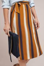 Porridge Clothing Melody Striped Wrap Skirt