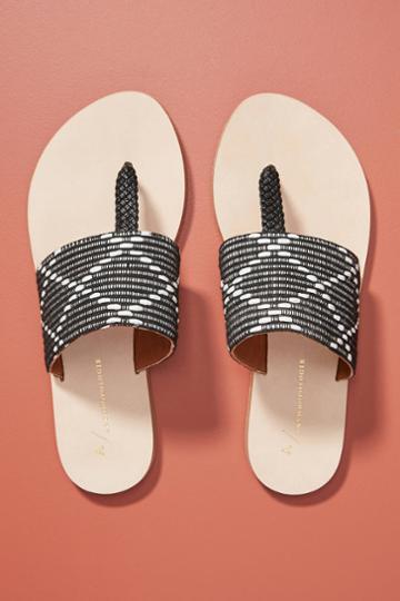 Anthropologie Asher Beaded Sandals