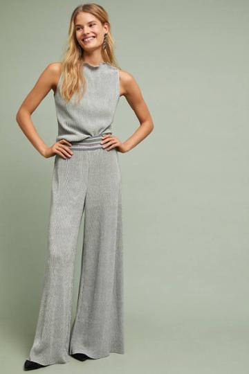 Ett:twa Metallic Plisse Pants