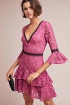 Ml Monique Lhuillier Ines Lace Mini Dress