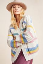 Anthropologie Candy Striped Cardigan