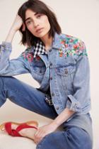 Levi's Embroidered Ex-boyfriend Denim Trucker Jacket