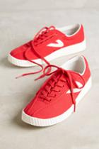 Tretorn Red Canvas Sneakers