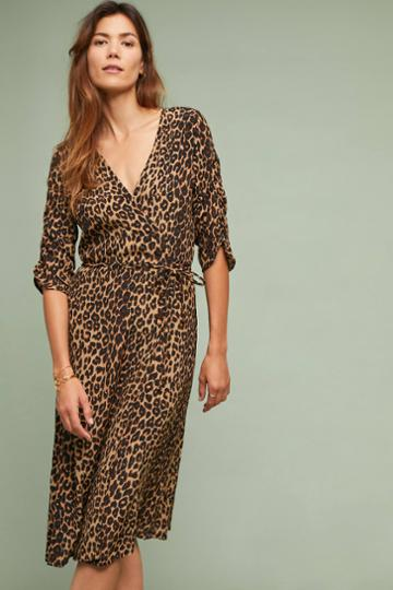 Faithfull Leopard Wrap Dress