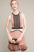 Anthropologie Flounced Lace Mini Dress