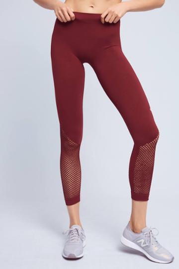 Adidas By Stella Mccartney Seamless Mesh Leggings