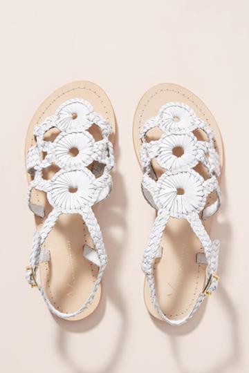 Anthropologie Sand Dollar Sandals