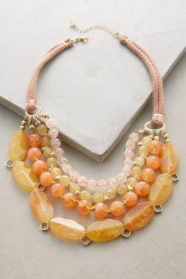 Anthropologie Nectarine Tiered Bib Necklace