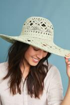 Anthropologie Crocheted Floppy Hat