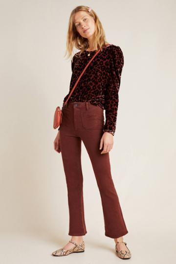 Paige Claudine High-rise Cropped Flare Jeans