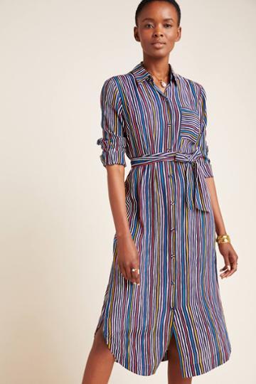 Maeve Letty Striped Shirtdress