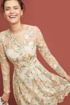 Ml Monique Lhuillier Cia Embroidered Dress
