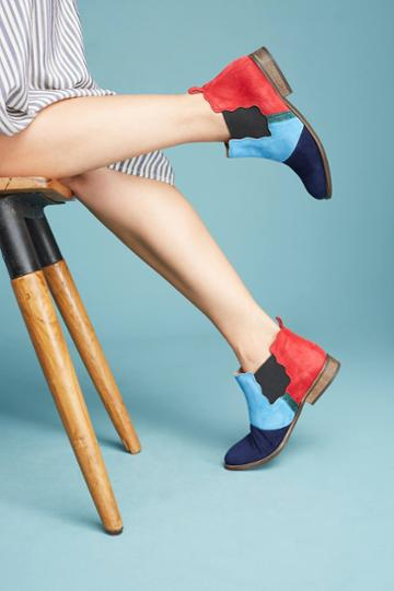 Anthropologie Patchwork Chelsea Boots