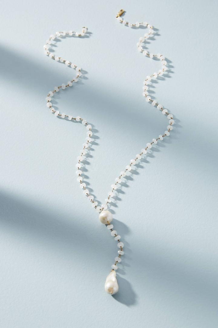 Jemma Sands Layered Pearl Y-necklace