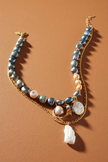 Katerina Psoma Pearl Charm Necklace