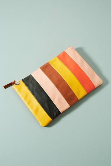 Clare V. Striped Pouch