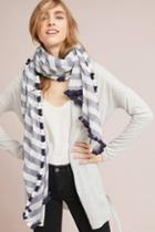Anthropologie Audrey Striped Scarf
