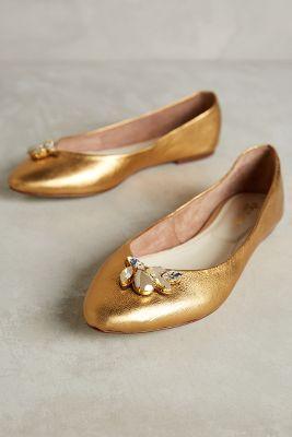Vanina Shimmery Flats Gold