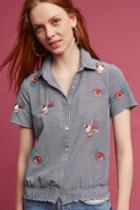 Eri + Ali Embroidered Garden Buttondown