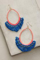 Anthropologie Beaded Loops Earrings