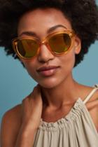 Anthropologie Honey Mirrored Sunglasses