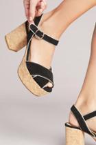 Anthropologie Piped Platform Sandals
