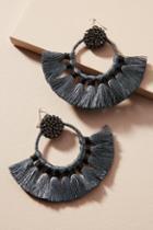 Anthropologie Metallic Muse Hoop Earrings