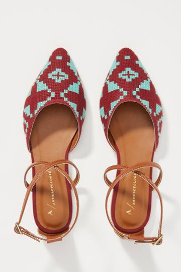 Anthropologie Geo Strappy Flats