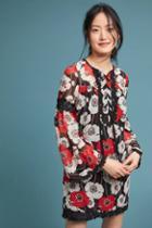 Anna Sui Field Of Poppies Silk Tunic Dress