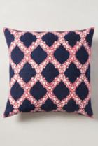 John Robshaw Dahlia Pillow Navy