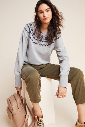 Maeve Roslyn Embroidered Sweatshirt