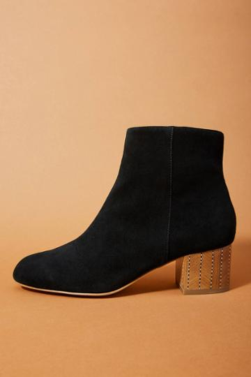 Anthropologie Painted-heel Boots