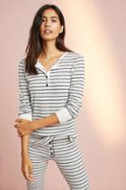 Sundry Striped Henley Thermal Top