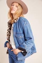 Levi's Leopard Sherpa-lined Denim Trucker Jacket